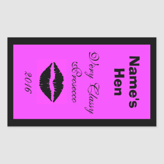 Customisable Wine Bottle Label Rectangular Sticker