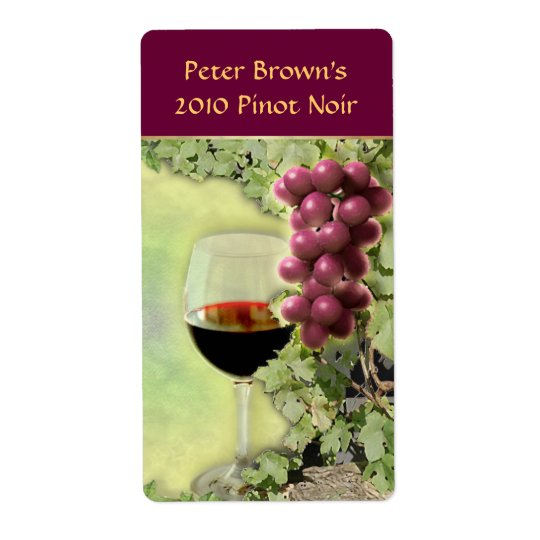 Customisable Wine Label Shipping Label
