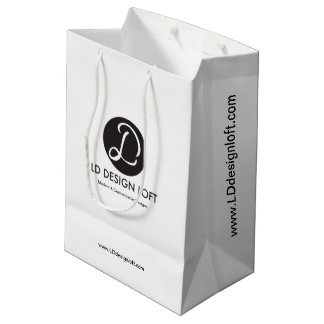 Customisable with Business Company Logo, Promotion Medium Gift Bag