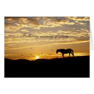 Customisable with Horse's Name Equine Sympathy Card