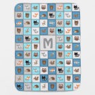 Customisable Woodland Patchwork Baby Blanket