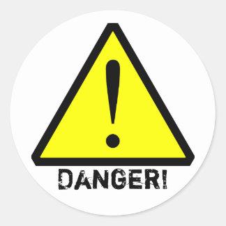 Customisable Yellow& Black Warning Symbol Sticker