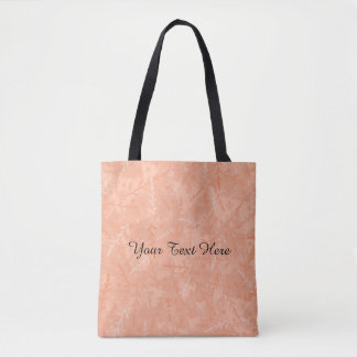 Customise A Message Peach Floral Tote Bag