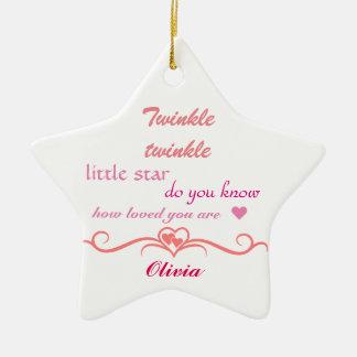 Customise, Christmas Ornament star.