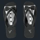 3c9148b815493 Masculine Groom Flip Flops Custom Colours.  50.90. Customise Colour Tuxedo - Groomsmen Thongs br  div class