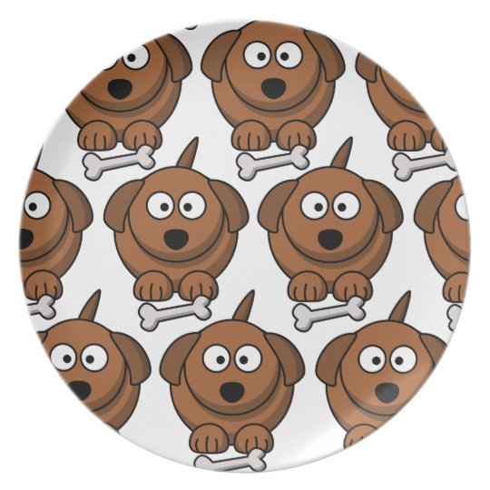 Customise Cute Dog Party Plate for Kids