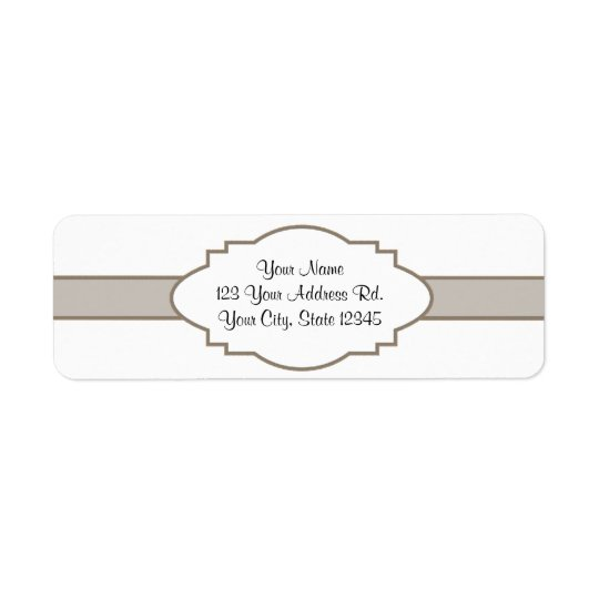Customise It! Nameplate Return Address Label