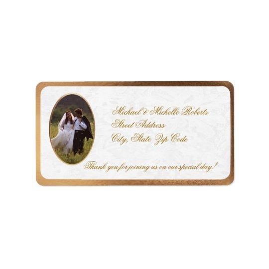 Customise Photo Wedding Thank You Return Address Label
