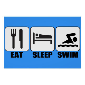 Customise ProdEat Sleep Swim Gear Poster