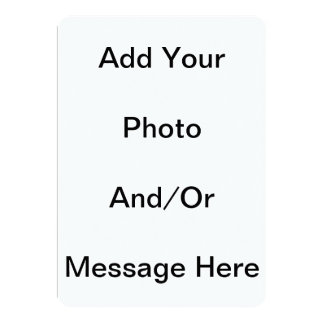 Customise Template Blank 5 x 7 Basic White Cards