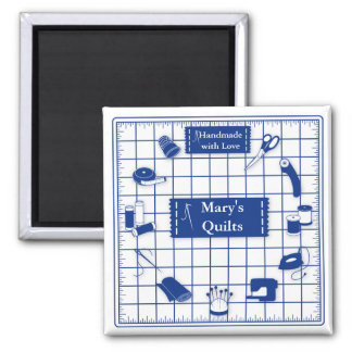 Customise the Label Quilt Time Magnet