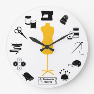 Customise the Label Sew Right Clock