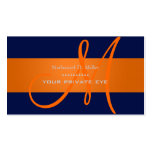 Customise this monogram business card