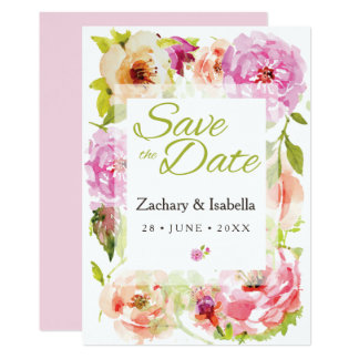 Customise this Pretty Save the Date Invitation