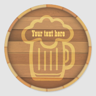 Customise Your Beer Classic Round Sticker