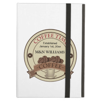 Customise Your Name Coffee Time Logo iPad Air Cover
