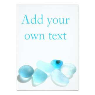Customise your own card with Seaham Sea Glass 13 Cm X 18 Cm Invitation Card