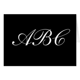 Customise your own monogram card