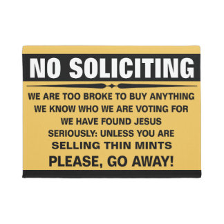 Customise Your Own No Soliciting Sign Doormat