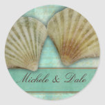 Customise your own seashell design round sticker