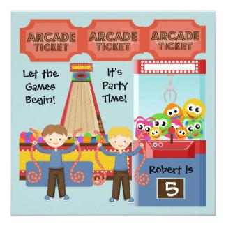 Customised Arcade Birthday Party Invitation