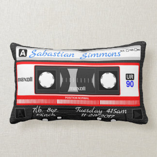 Customised Cassette Tape Birth or Any Day Pillow