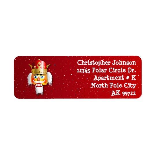 Customised Christmas Nutcracker King Return Address Label