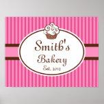 Customised Cupcake Bakery Sign Art  Print