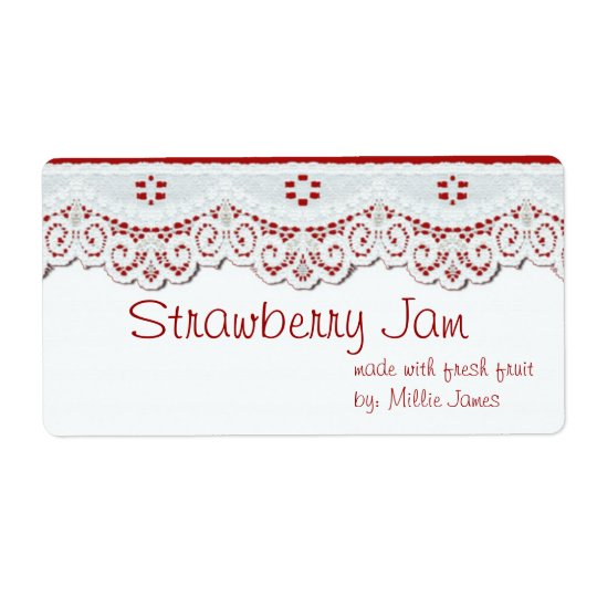 customised food gift label for jars or gift bags