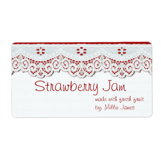 customised food gift label for jars or gift bags shipping label