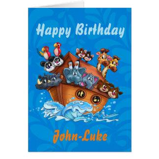 Customised Kids birthday cartoon card