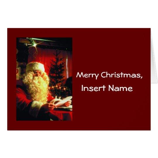 Customised Letter from Santa Card