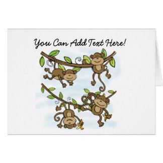 Customised Monkey Shine Note Cards
