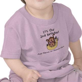 Customised Monkey Twin Boy and Girl Tshirt