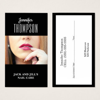 Customised Nail Technician Business Card