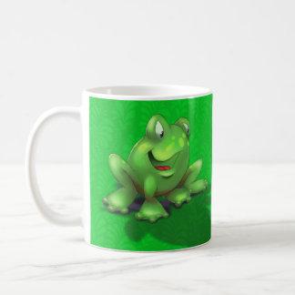 customised name cute cartoon frog green coffee mug