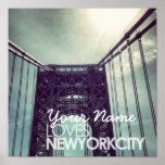 Customised Name Loves New York City Poster