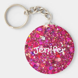 Customised name sparkle and glitter Keychain