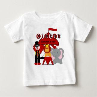 Customised Red and White Circus Birthday T-shirt
