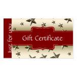 Customised Shiny Gold Stars Gift Certificate