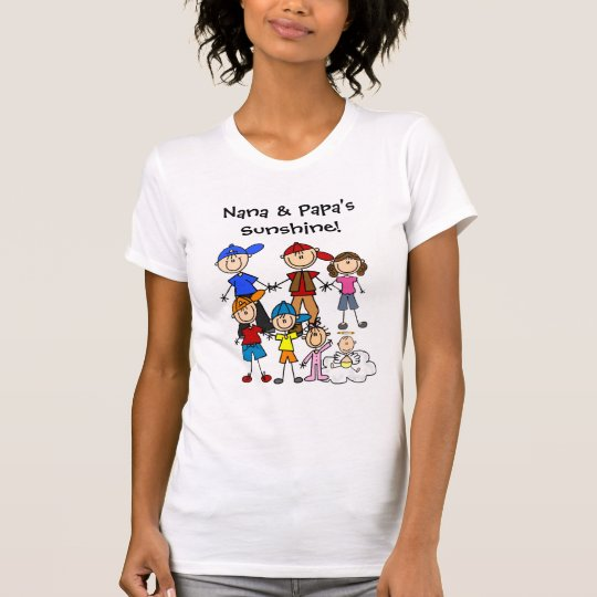 Customised Stick Figure Seven Kids T-Shirt