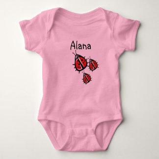 Customised Three Little Ladybug Shirt