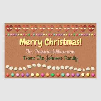 Customised Xmas Gift Label - Gingerbread Cookie