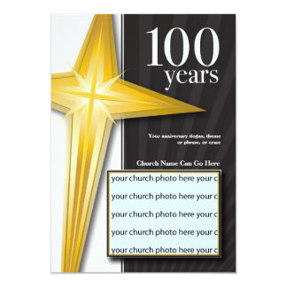 Customizable 100 Year Church Anniversary Card