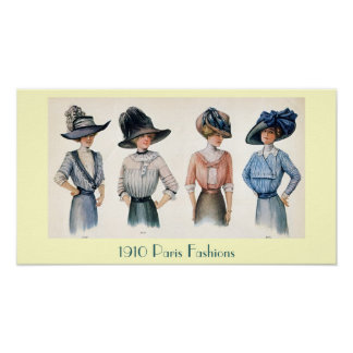 Customizable 1910 Paris Fashions Poster
