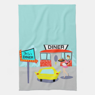 Customizable 1950's Diner Kitchen Towel
