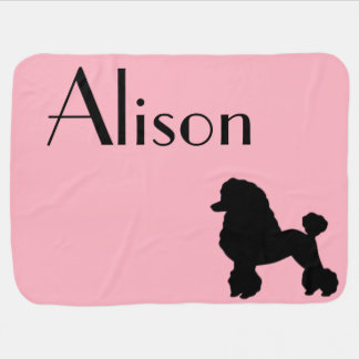 Customizable 1950s Poodle Skirt Baby Blanket
