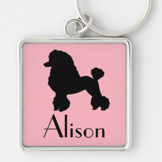 Customizable 1950's Poodle Skirt Inspired Keychain