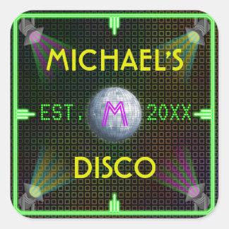 Customizable 1970's Disco Ball Sticker