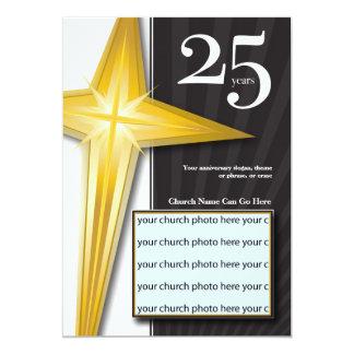 Customizable 25 Year Church Anniversary 13 Cm X 18 Cm Invitation Card